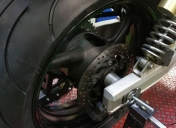 Usinage des entretoises de centrage de roue et montage définitif