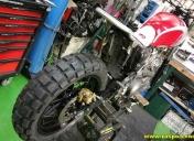 Montage de la roue AR et pneu en 180