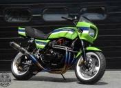Photo pour un reportage dans la revue Moto tuning
