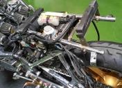 Préparation du berceau Ar pour supporter la batterie