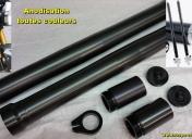 Usinage, anodisation, tube de fourche et rallonges