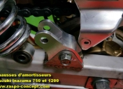 Rehausses amortisseurs Inazuma 750 et 1200