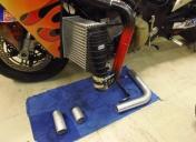 Préparation des tubulures de refroidissement du turbo