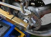 Adaptation d'une roue de 650SV, il y a du boulot d'usinage
