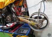 Centrage de la roue AR et alignement du kit chaine