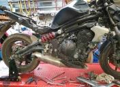 Voila l'état de la moto à son arrivée !!! no comment