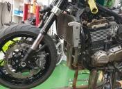Montage de la roue et système de freinage