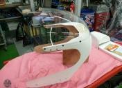 Fabrication de la bulle sur mesure et départ pour la peinture