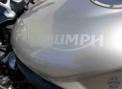 Logo Triumph intégré à la peinture
