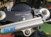 Usinage du té sup avec le fond pour intégrer un compteur Motogadget motoscope pro