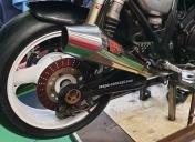 2020 : Roue AR avec pneu Conti road attack 3