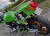 La moto à son arrivée en atelier