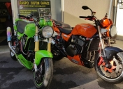 Orange Mécanic avec le Racer Green