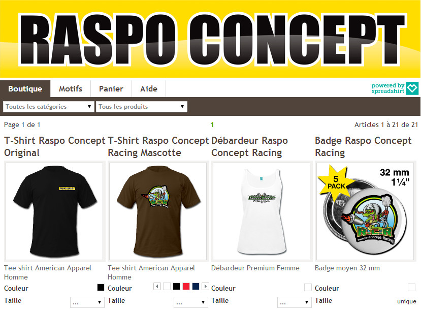 Boutique vêtements Raspo-Concept