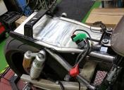 Préparation du fond étanche et position du faisceau électrique