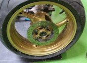 Epoxy gold des roues