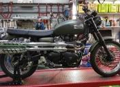 Arrivée de la moto dans les ateliers