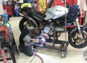 Préparation du support roulant