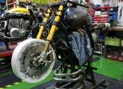 Montage de la roue Av Kineo