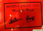 Signature sur le réservoir
