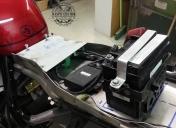 Fond de boucle et préparation des éléments électriques