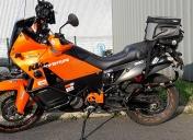 Ce coup-ci, elle est prête pour le départ du moto-tour !