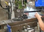 Usinage du porte couronne pour mieux centrer la roue Ar vis-à-vis du kit chaine et de la roue Av