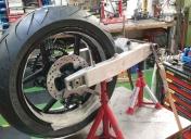 Usinage des entretoises de centrage de la roue