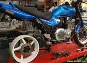 Préparation de la roue de R1 et bras oscillant de ZRX