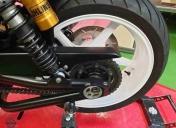 Sablage et époxy des roues en blanc