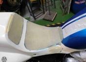 Préparation des fonds de selle en polyester