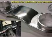 Usinage d'un rigidificateur de fourche pour Triumph Bonneville T100