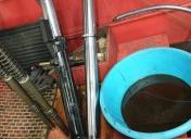 Vidange de la fourche et nettoyage des éléments