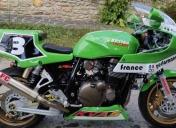 La moto à son arrivée en atelier, elle a du potentiel. Avec François nous allons lui apporter notre petite touche.